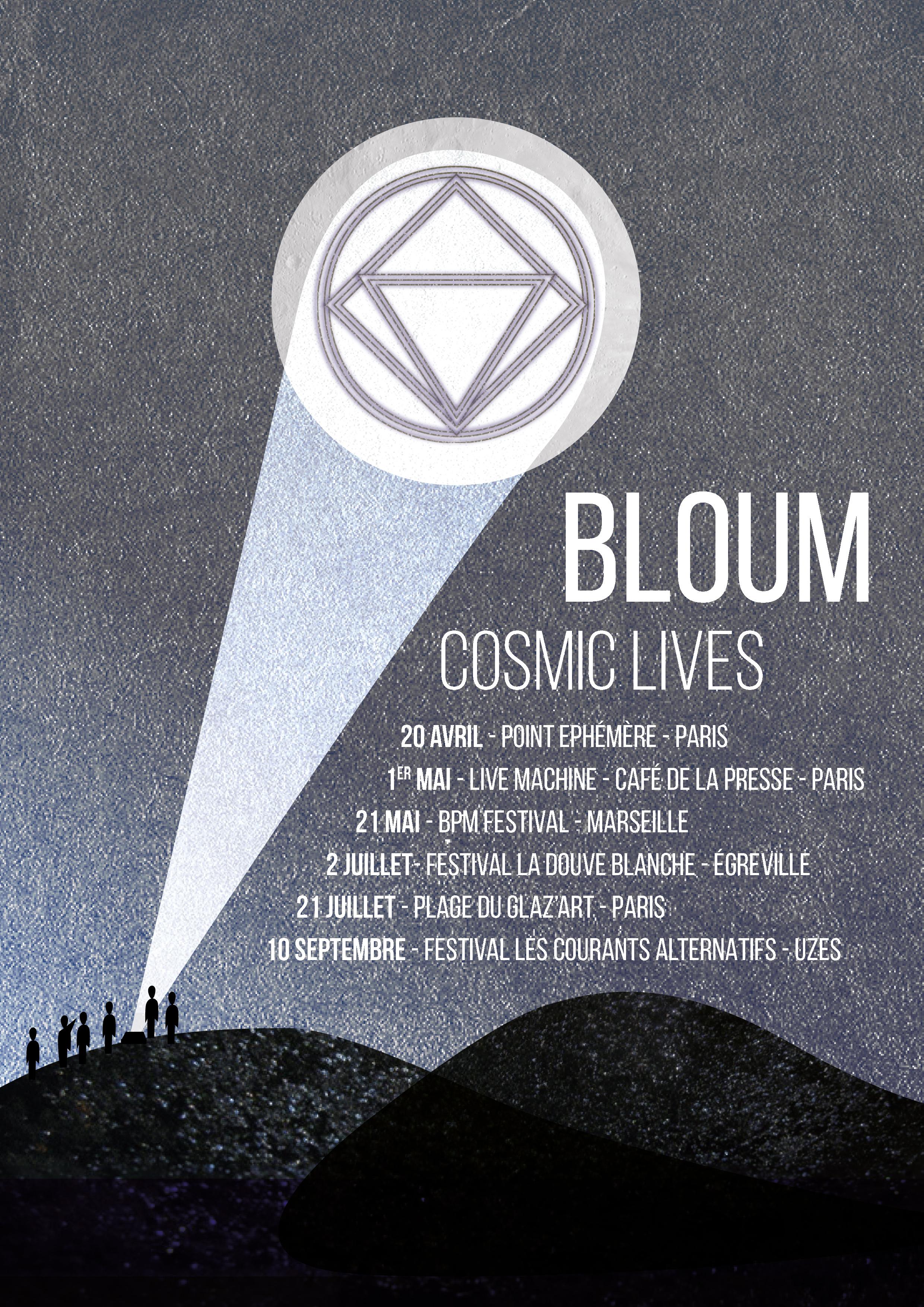 Affiche Cosmic Lives Bloum